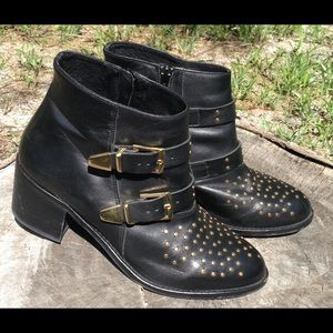 Used TopShop Women's Blk Alvin Studded Ankle Boot